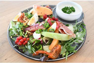 Salade meloen met ham