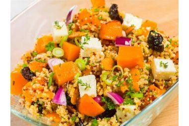 Salade van quinoa met butternut en feta
