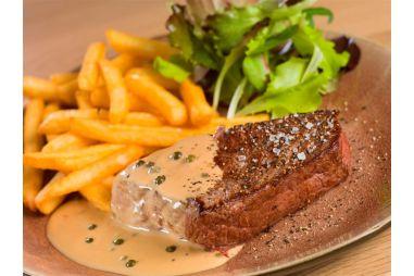Steak met saus naar keuze
