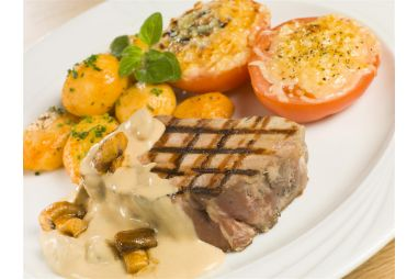Varkenssteak champignon