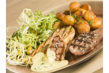 Mixed grill rund/kip/varken