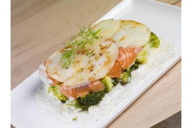 ovenschotel zalm-broccoli
