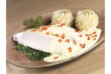 Tongschar met Hollandse saus